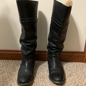 Frye tall black boots